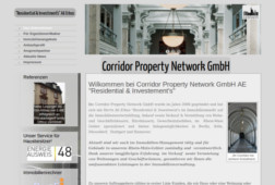 Webseite - Corridor Property Network GmbH